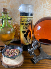 Lucky Black Cat Candle