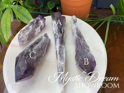 Smokey Dragon Tooth Amethyst