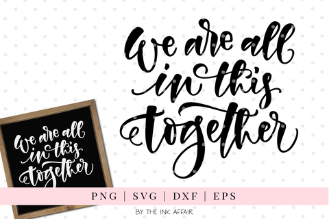We're all in this together SVG