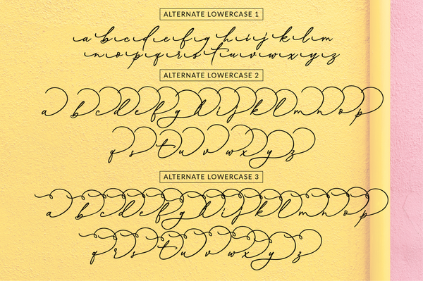 Musings, calligraphy font