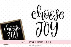 Choose Joy SVG