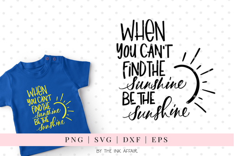 Be the sunshine SVG