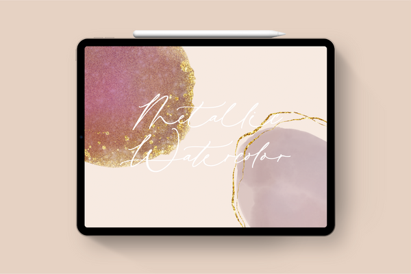 Metallic Watercolor Kit for Procreate