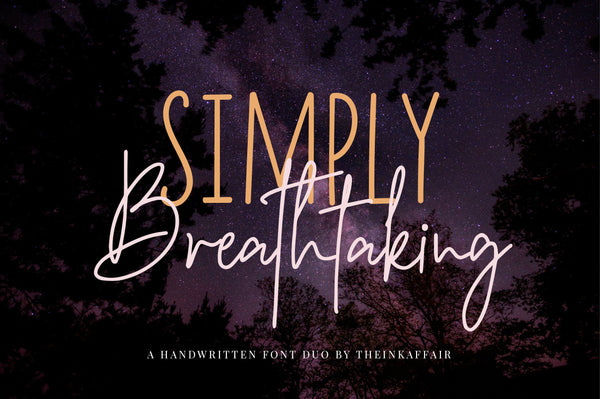 Simply Breathtaking Font Duo