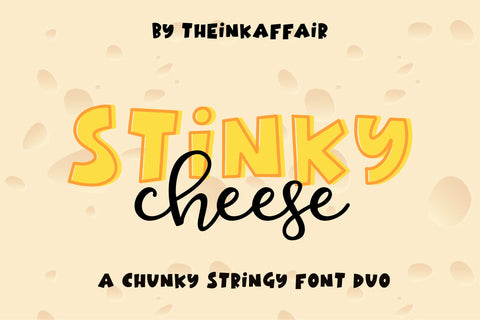 Stinky Cheese Font Duo