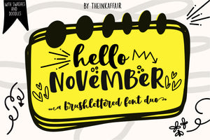 Hello November Font Duo