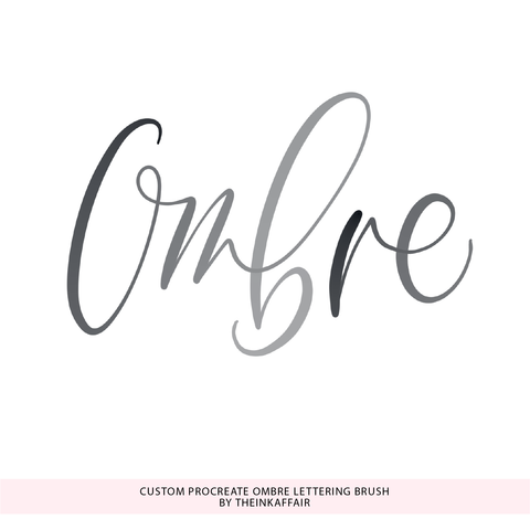 Custom Procreate Ombre Lettering Brush