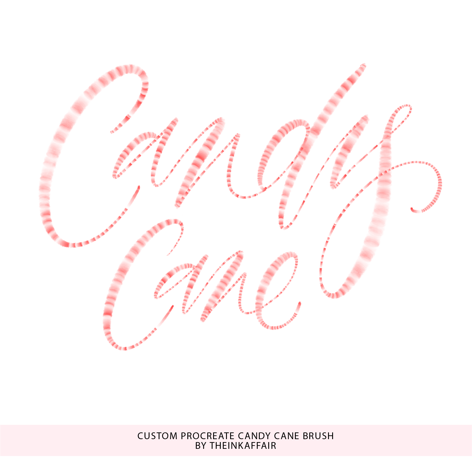 Custom Procreate Candy Cane Brush