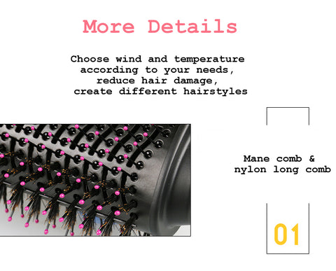 Multifunctional negative ion blow hair curler