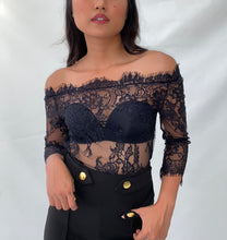 Load image into Gallery viewer, LALLA OFF SHOULDER LACE BODYSUIT