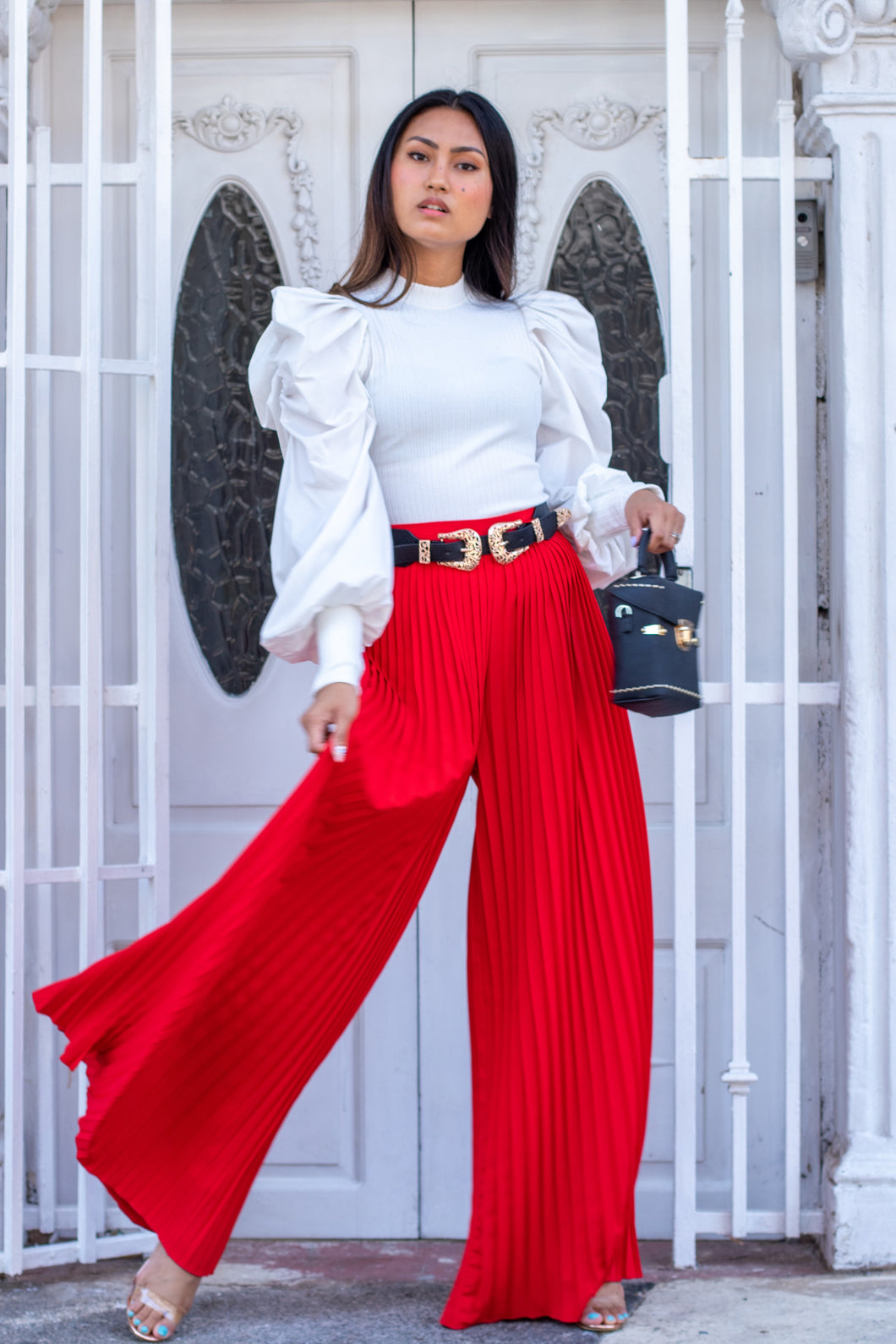 PLEATED CULOTTE MAXI PANTS