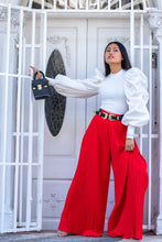 Load image into Gallery viewer, PLEATED CULOTTE MAXI PANTS