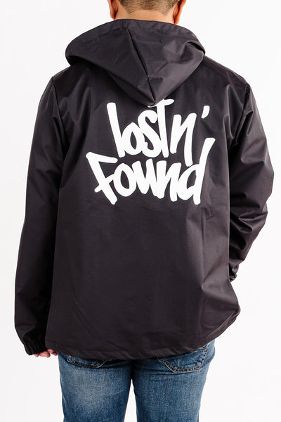Black lostN'Found Windbreaker