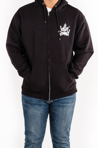Black lostN'Found Zip Up