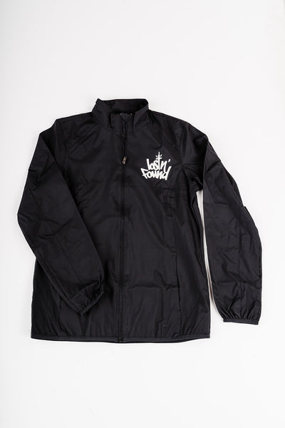 Women's lostN'Found Full Zip Black Windbreaker