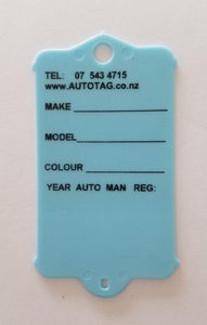 Mark I Automotive Key Tag - Blue