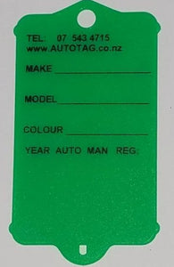 Mark I Automotive Key Tag Green