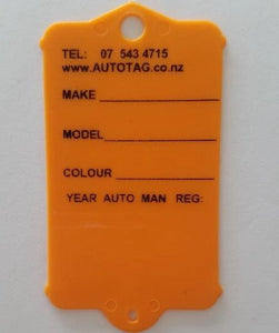 Mark I Automotive Key Tag Orange