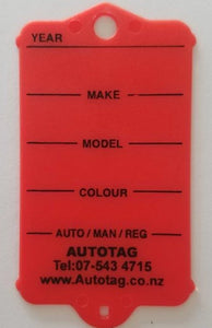 Mark I Automotive Key Tag Red
