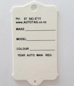 Mark I Automotive Key Tag White