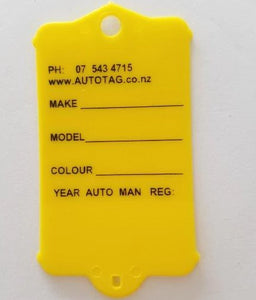 Mark I Automotive Key Tag Yellow