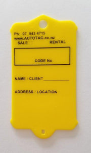 Mark I Real Estate Key Tag Yellow