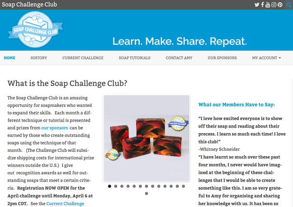 Soap Challeng Club by Amy Warden