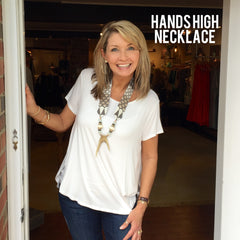 Hands High Necklace
