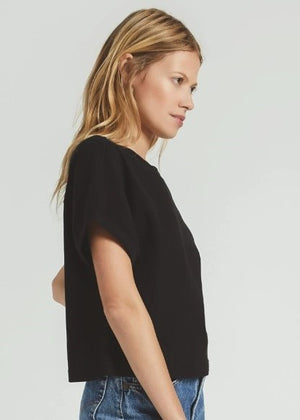 AZUL CROPPED CRINKLE TEE - Cooper & Bailey's