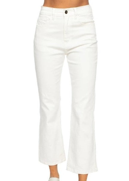 LIVELY MOM JEANS IN WHITE - Cooper & Bailey's