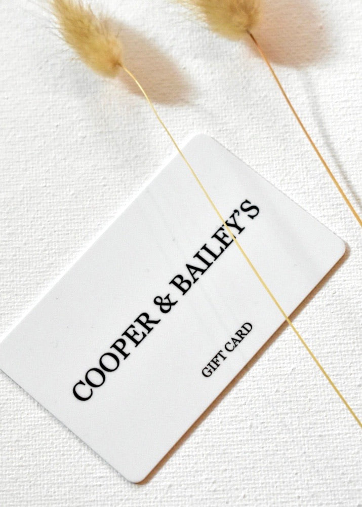 GIFT CARD - Cooper & Bailey's