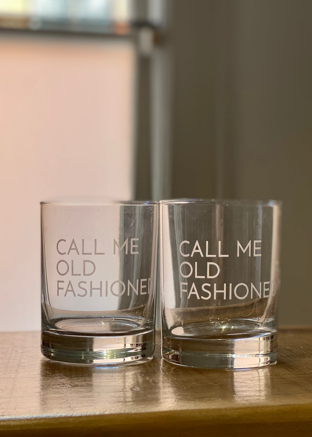 SET OF 2 CALL ME OLD FASHIONED GLASSES - Cooper & Bailey's