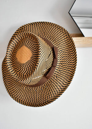 SEA STRAW GAMBLER HAT