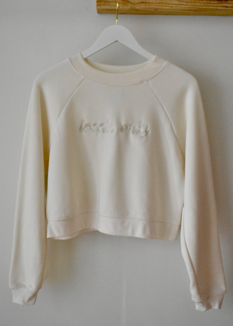 LOCALS ONLY CROPPED SWEATSHIRT