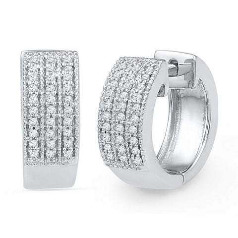 1/4CTW DIAMOND HOOP EARRINGS