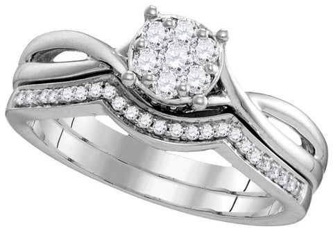 10kt White Gold 0.33ct TW Round Diamond Fashion Ring