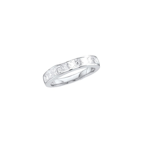 14kt White Gold Invisible Set Diamond Wedding Ring 0.25ct