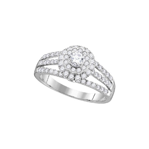 14kt W.G. 1.00ct TW Round Diamond Bridal Ring
