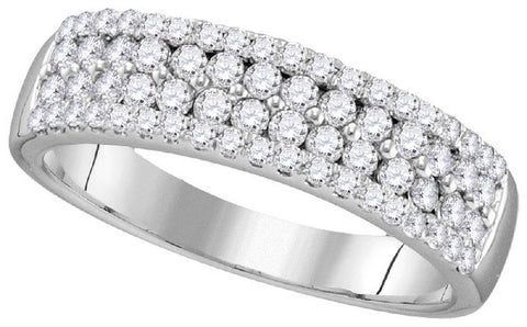 10kt White Gold Round Diamond Fashion Band  0.75ct