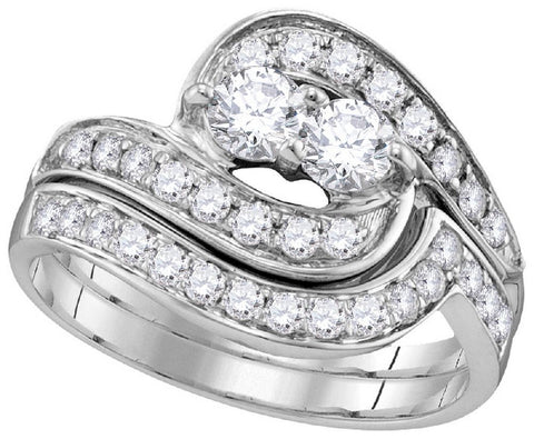 10Kt White Gold 0.50Ctw-Diamond Bridal Ring Set