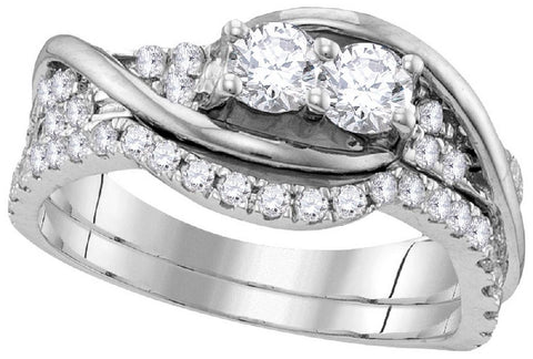 14Kt White Gold 1.50Ctw-Diamond Bridal Ring Set