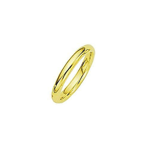 18kt Yellow Gold Comfortable Fit Wedding Band 2 1/2MM