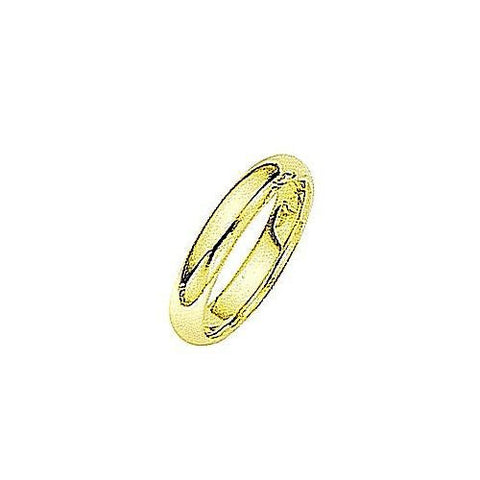 18kt Yellow Gold Comfortable Fit Wedding Band 4MM