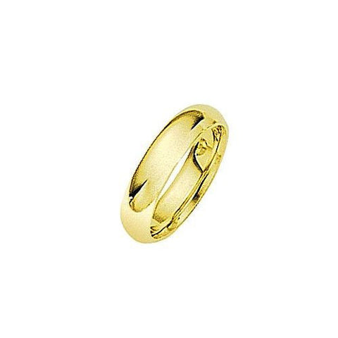 18kt Yellow Gold Comfortable Fit Wedding Band 5MM
