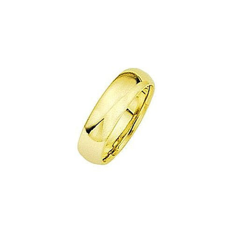 18kt Yellow Gold Comfortable Fit Wedding Band 6MM