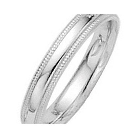 3mm Platinum Milgrain Comfort Fit Wedding Band