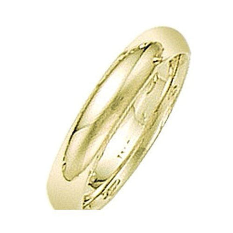 14kt Yellow Gold Comfort Fit Wedding Band 4MM