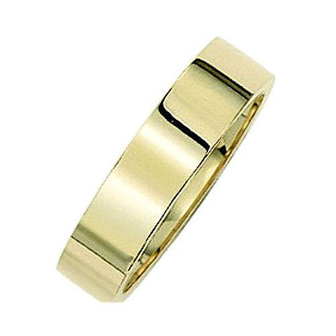14kt Yellow Gold Flat Comfort Fit Wedding Band 5MM