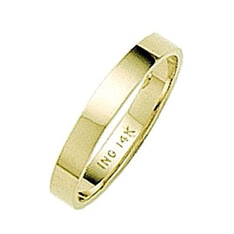 14kt Yellow Gold Flat Band Wedding Band 3MM
