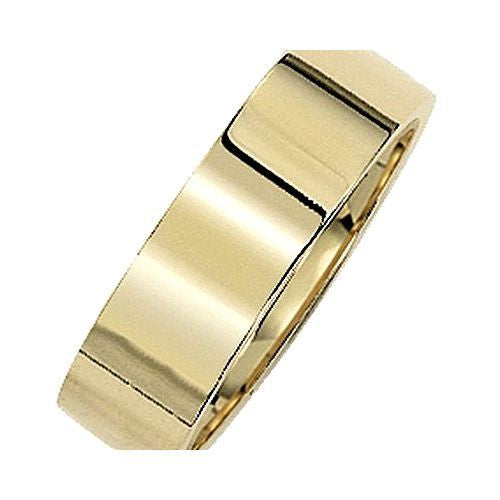 14kt Yellow Gold Flat Comfort Fit Wedding Band 6MM